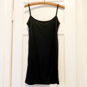 French Connection Silky Black Dress, Size 4